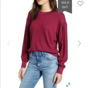 Nordstrom's Treasure & Bond Puff Sleeve Sweatshirt